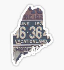 Vintage Maine License Plates Sticker