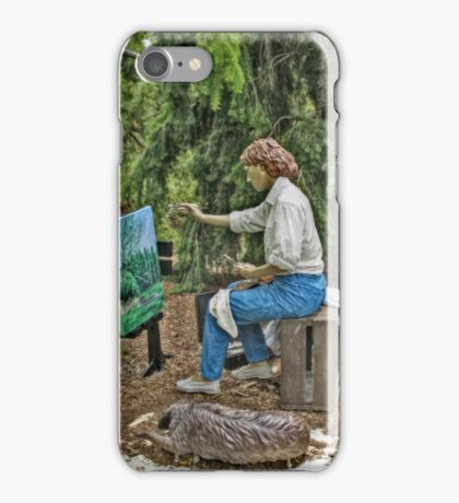 The Artist At Work by Seward Johnson (in advanced HDR) iPhone Case/Skin