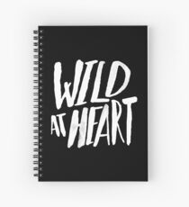 Wild at Heart x Black and White Spiral Notebook