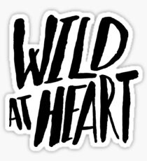 Wild at Heart x Black and White Sticker