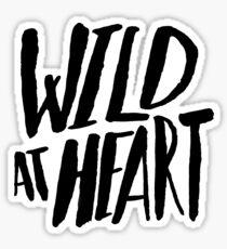 Pegatina Wild at Heart x Blanco y Negro