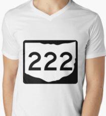 Ohio State Route SR 222 | United States Highway Shield Sign Men's V-Neck T-Shirt