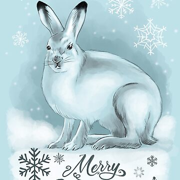 Merry Christmas Snowy Hare cards by Extreme-Fantasy