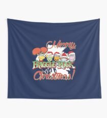 Fraggle Rock Fraggles Festive Season Merry Christmas Greetings Muppets Wall Tapestry