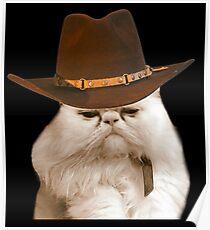 Cowboy Katze Poster