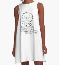 Vegetarian Quote Albert Einstein A-Line Dress