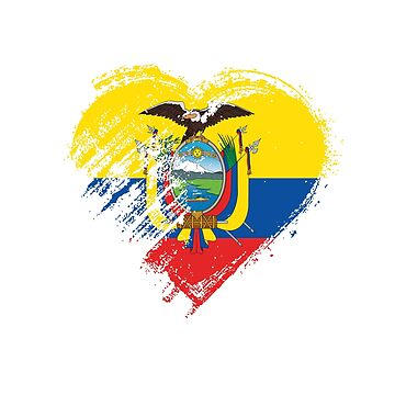 Grungy I Love Ecuador Heart Flag by madra