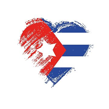 Grungy I Love Cuba Heart Flag by madra