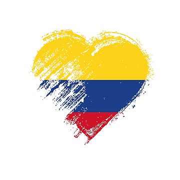 Grungy I Love Colombia Heart Flag by madra