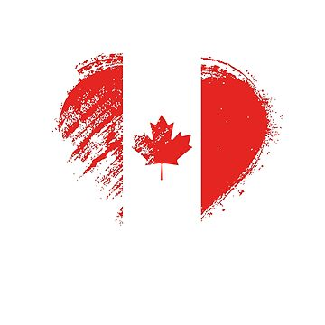 Grungy I Love Canada Heart Flag by madra