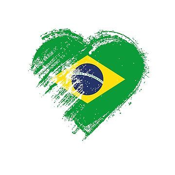 Grungy I Love Brasil Heart Flag by madra