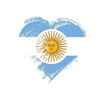 Grungy I Love Argentina Heart Flag by madra