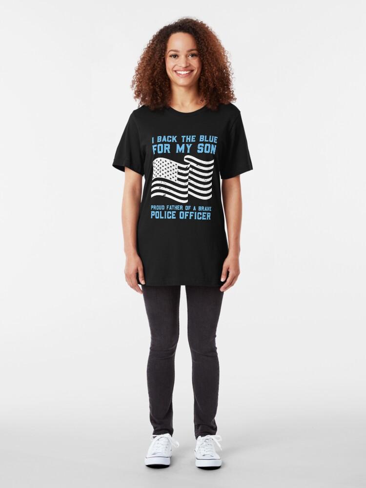 Alternative Ansicht von I Back The Blue For My Son - Thin Blue Line Gift Slim Fit T-Shirt