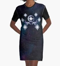 Symbol of the Moon Goddess Graphic T-Shirt Dress