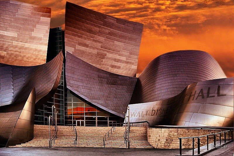 Walt Disney Music Hall at Sunset by jodice