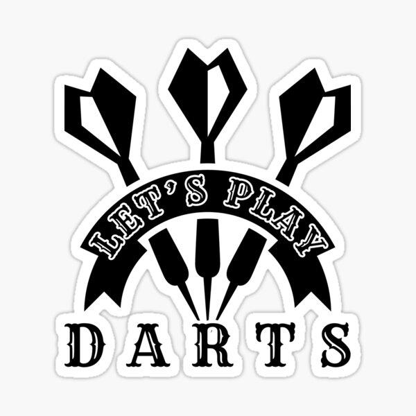 Let's Play Darts Sticker