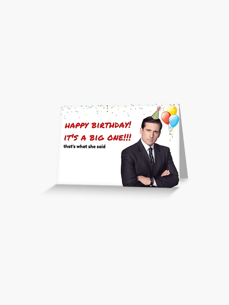 Office Us Birthday Card Michael Scott Quotes Gifts Presents