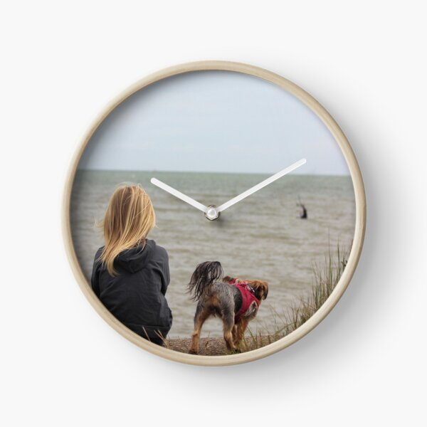 Watching the surf Clock
