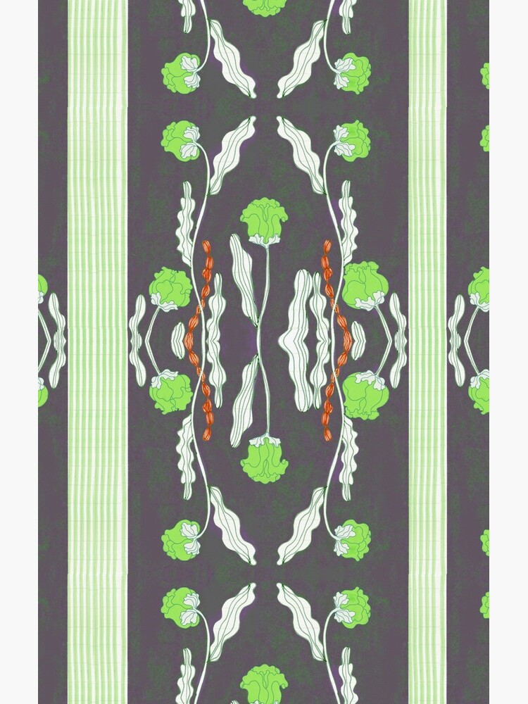 Green  flower patter  by spoto