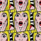 Pop-Art überraschtes Mädchen von Elena Shmidt
