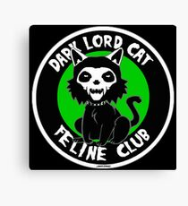 Dark Lord Cat Feline Club Canvas Print