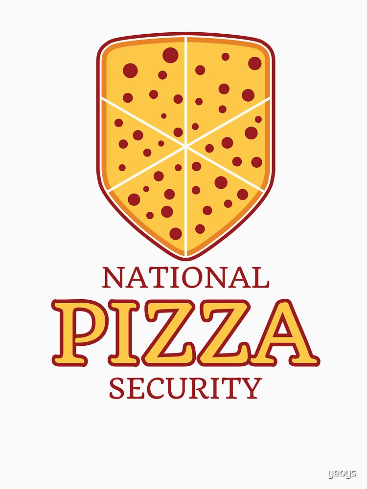 National Pizza Security - Funny Security Gift von yeoys