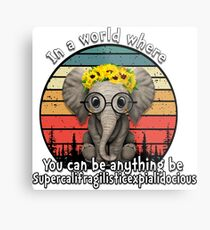 Elephant supercalifragilisticexpialidocious Metal Print
