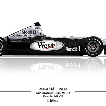 Formula 1 - Mika Hakkinen - McLaren MP4/14 by JageOwen