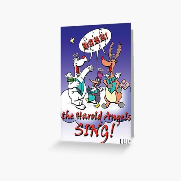 Hark the Harold Christmas Greeting Card Greeting Card