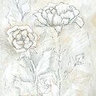 Floral Dreams Mixed Media Painting by JourneyHomeMade