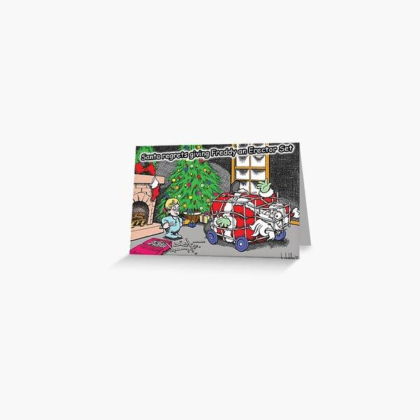 Erector Set Christmas Greeting Card Greeting Card