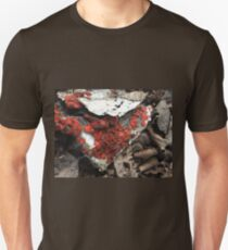 Coolest Orange Red Fungi on Cardboard Unisex T-Shirt