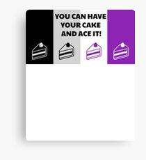 Asexual Flag You Can Have Your Cake And Ace It Asexual T-Shirt Canvas Print