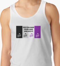 Asexual Flag You Can Have Your Cake And Ace It Asexual T-Shirt Men's Tank Top