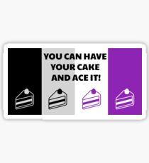 Asexual Flag You Can Have Your Cake And Ace It Asexual T-Shirt Sticker