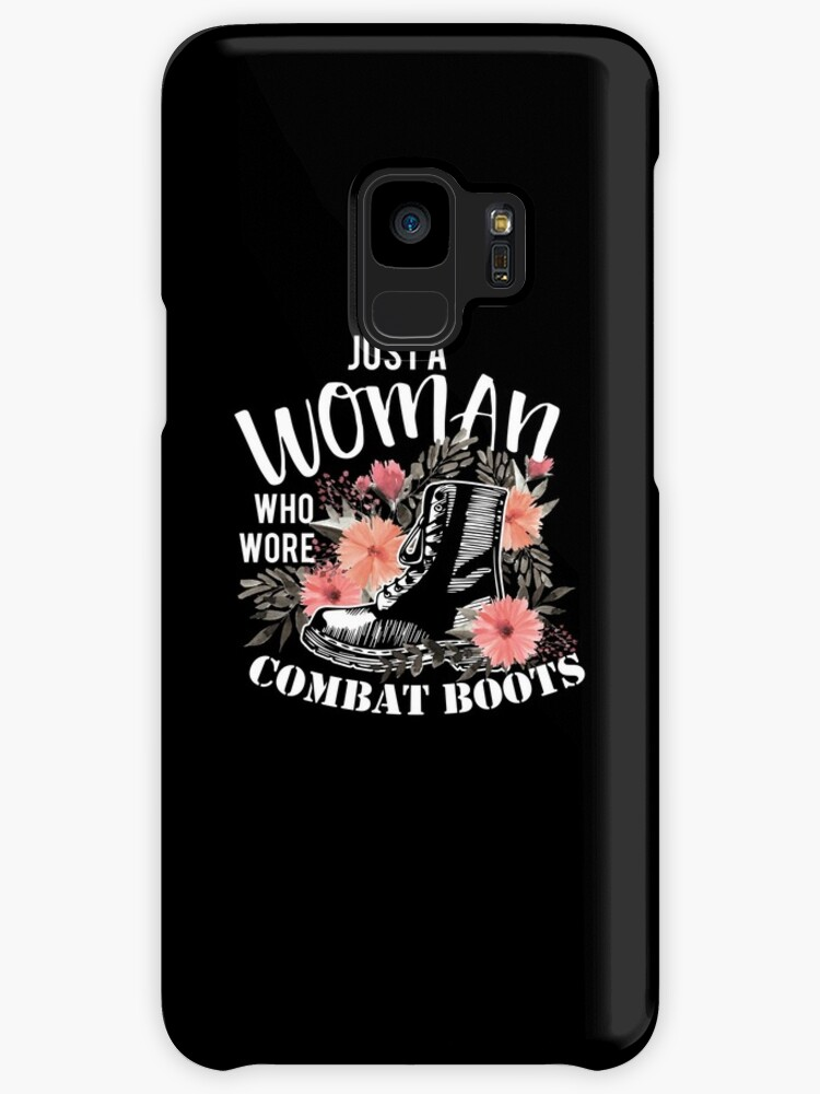 Just A Woman Wore Combat Boots Veteran by BUBLTEES