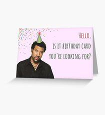 Lionel Richie Geburtstagskarte, Hallo, Meme Grußkarten Grußkarte