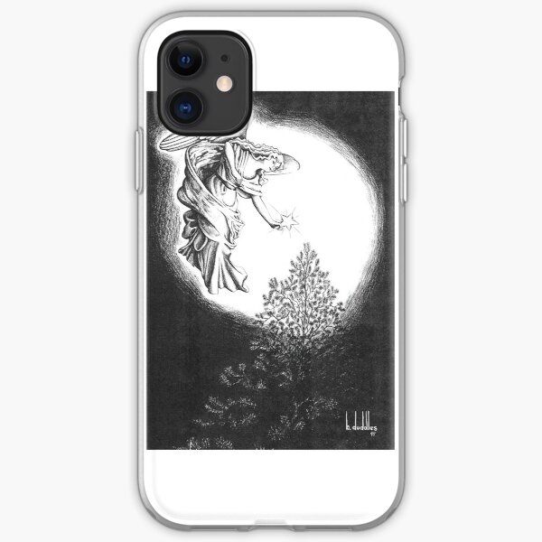 Angel and Christmas Tree Star Greeting Card iPhone Soft Case