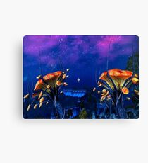 Psychadellic Mushrooms of the Shivering Isles Canvas Print
