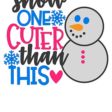 Christmas Snowman Snow one cuter than this  by fermo