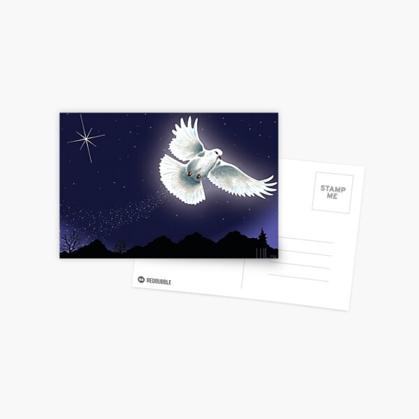 Dove & Star Christmas Greeting Card Postcard