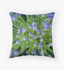 Purple Flower Floral-(Macro) Throw Pillow