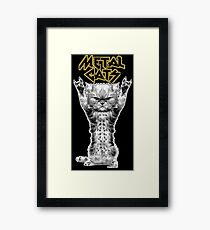 metal cats Framed Print