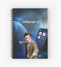 Dr. Who collage/Allons-y! Spiral Notebook