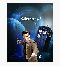 Dr. Who collage/Allons-y! Photographic Print