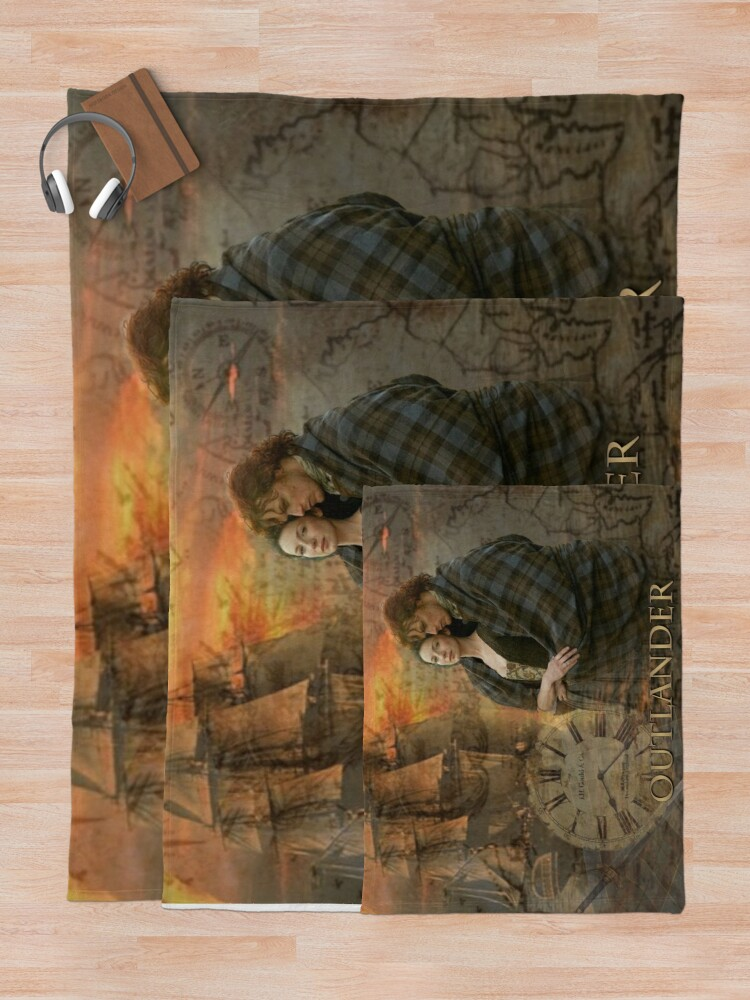 Alternate view of Outlander collage Throw Blanket