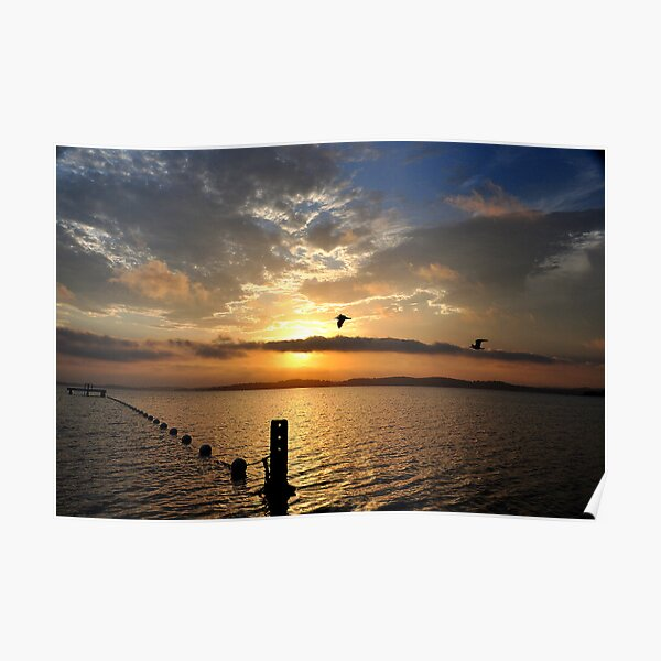 Late Sunset over Belmont Bay - Lake Macquarie NSW Poster