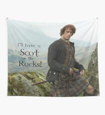 Ich werde einen Schotten auf den Felsen haben! Wandbehang