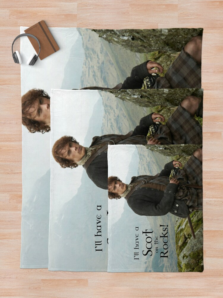 Alternate view of I'll have a Scot on the Rocks!  Throw Blanket