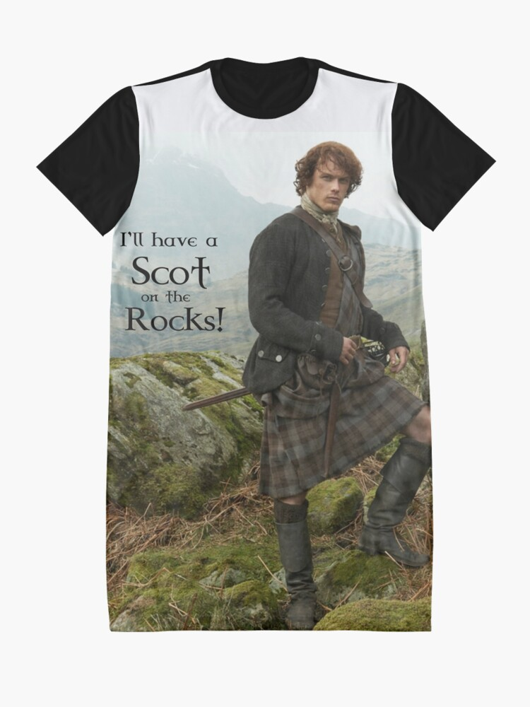 Alternate view of I'll have a Scot on the Rocks!  Graphic T-Shirt Dress